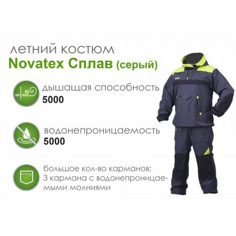 Летний костюм Novatex Сплав, серый