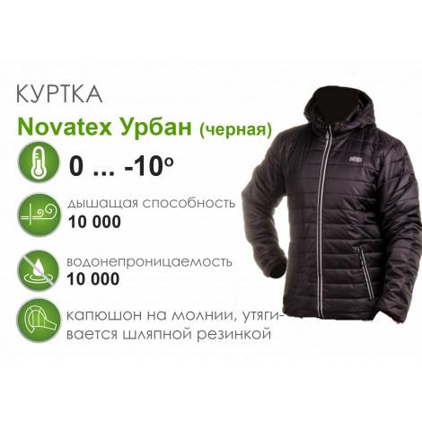 Зимняя куртка Novatex Урбан, нейлон/черный