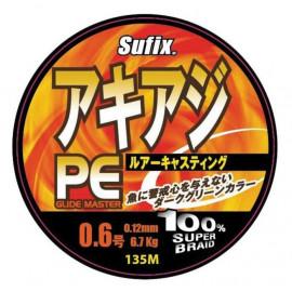 Леска плетеная  Sufix PE Glide Master желтая 135м 0.12мм 6,7кг
