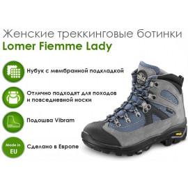 Женские трекинговые ботинки Lomer Fiemme Lady,  Ash Navy