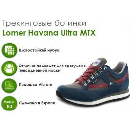 Треккинговые ботинки Lomer Havana Ultra MTX, ocean/grey