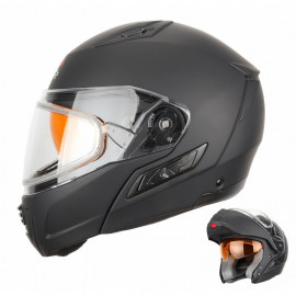 Снегоходный шлем XTR модуляр с двойным стеклом MODE1 черный матовый