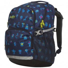 Детский школьный рюкзак Bergans 2GO 24 L, MidnightBlue Monster