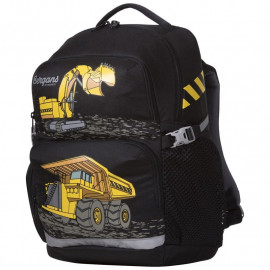 Детский школьный рюкзак Bergans 2GO 24 L, Black Trucks