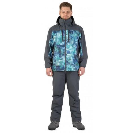 Куртка FHM Gale (Принт голубой/Серый)