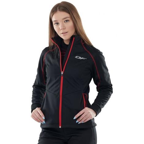 Куртка Dragonfly Explorer Black-Red женская, Softshell