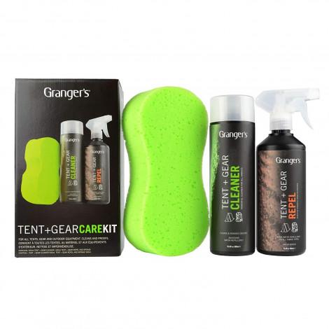 Пропитка GRANGERS Tent & Gear Clean & Proof Kit: Tent Cleaner, Repel Trigger Spray & Sponge (UV), 500мл х 2 (б/р)