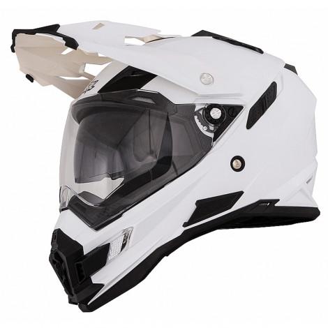 Шлем кроссовый Sierra Adventure PLAIN белый