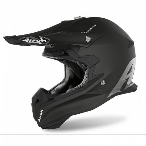 Шлем кроссовый Terminator Open Vision (Airoh, TOV1) (Стекловолокно, мат., Черный)