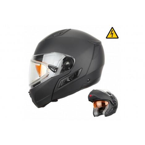 Шлем снегоходный XTR MODE1 (стекло с электроподогревом, термопластик, мат., черный)