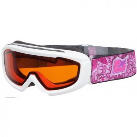 Детская зимняя маска Ariete 4 KIDS, 5-8 лет, розовая/оранжевая стекло