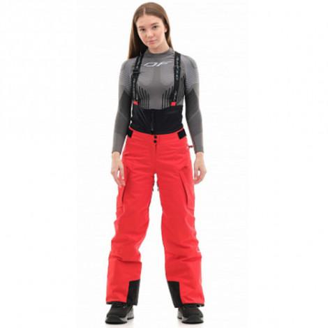 Штаны горнолыжные утепленные Dragonfly SKI Premium WOMAN Red Fluo