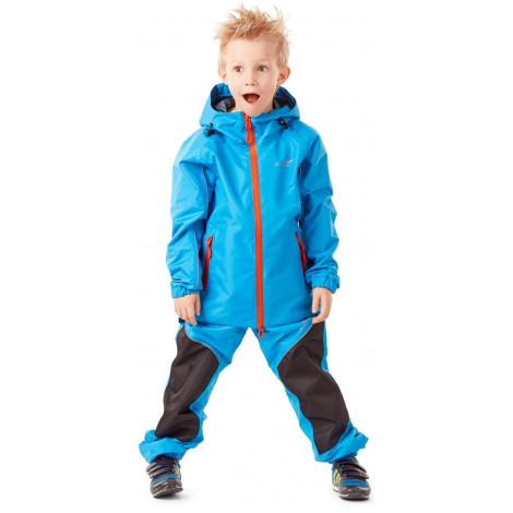 Детский комплект дождевой (куртка, брюки) Dragonfly EVO Kids, BLUE (мембрана)