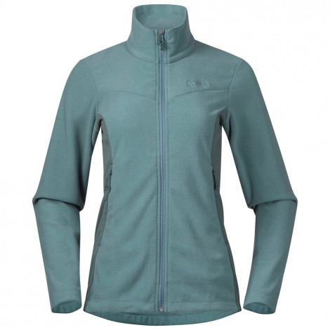 Женская флисовая куртка Bergans Finnsnes Fleece, Light Forest Frost / Forest Frost