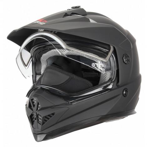 Шлем снегоходный XTR DSE1, термопластик ABS, мат., двойное стекло, съемная подкладка