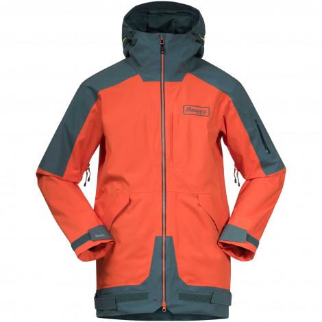 Куртка BERGANS Myrkdalen V2 Insulated Jkt, Br Magma/ForestFrost/BeSeen Yellow