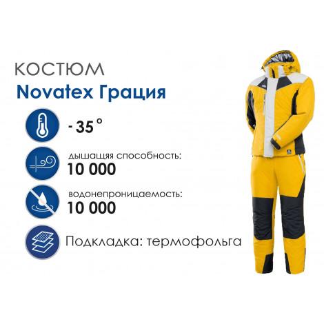 Женский зимний костюм Novatex Грация, желтый