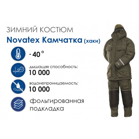 Зимний костюм NOVATEX Камчатка, хаки