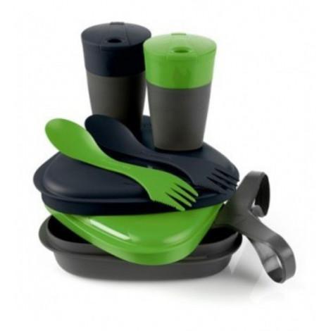Набор посуды Light My Fire Pack n Eat Kit, зеленый/черный