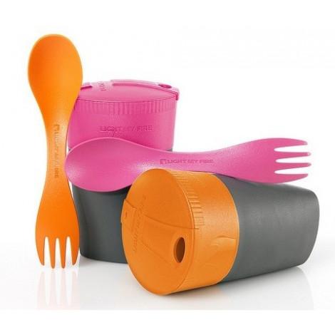 Набор подарочный Cup`n Spork, оранжевый/фуксия