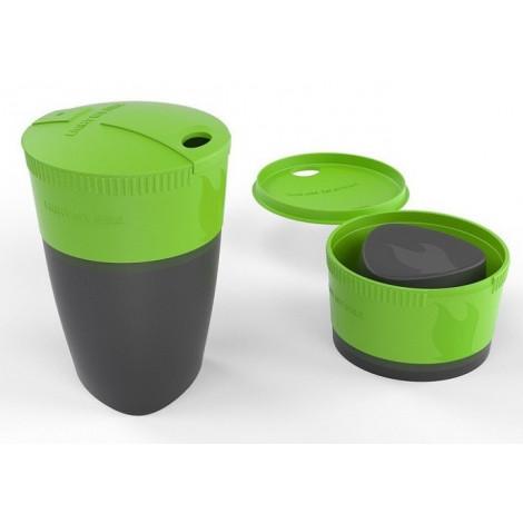 Кружка складная Pack-up-Cup, зеленая
