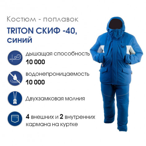 Костюм-поплавок Triton Скиф -40, синий