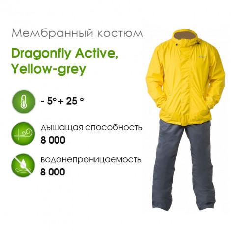 Мембранный костюм Dragonfly Active, YELLOW-GREY