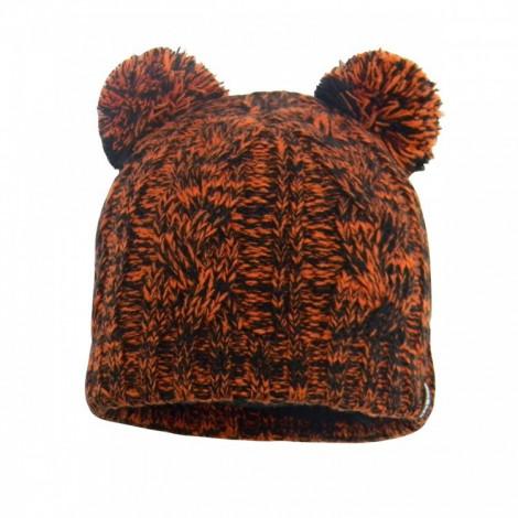 Детская водонепроницаемая шапка DexShell с помпонами, оранжевая