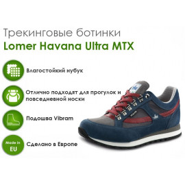 Трекинговые ботинки Lomer Havana Ultra MTX, ocean/grey