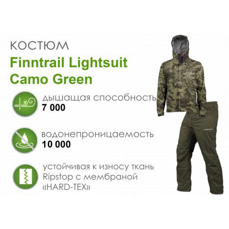 Костюм Finntrail Lightsuit Camo Green