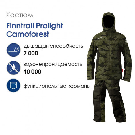 Костюм Finntrail Prolight Camoforest