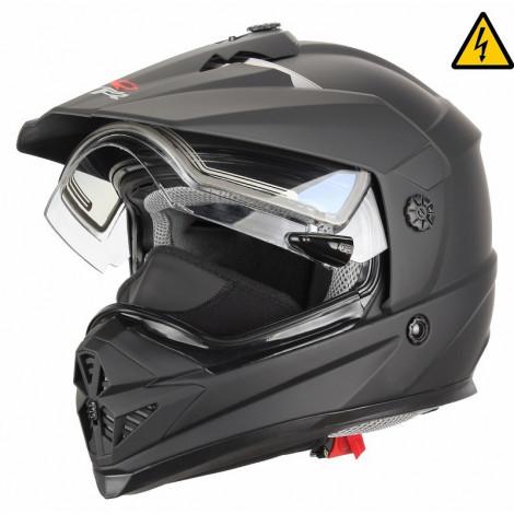 Снегоходный шлем DSE1 (XTR, DSE1) (стекло с электроподогревом, Термопластик, мат., Черный)