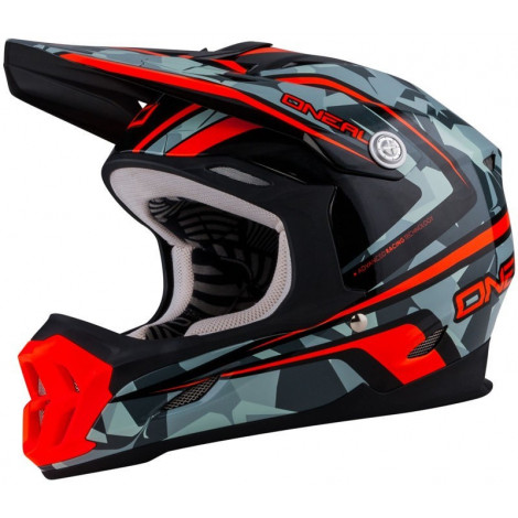 Кроссовый шлем O`Neal 7Series CAMO серый/оранжевый