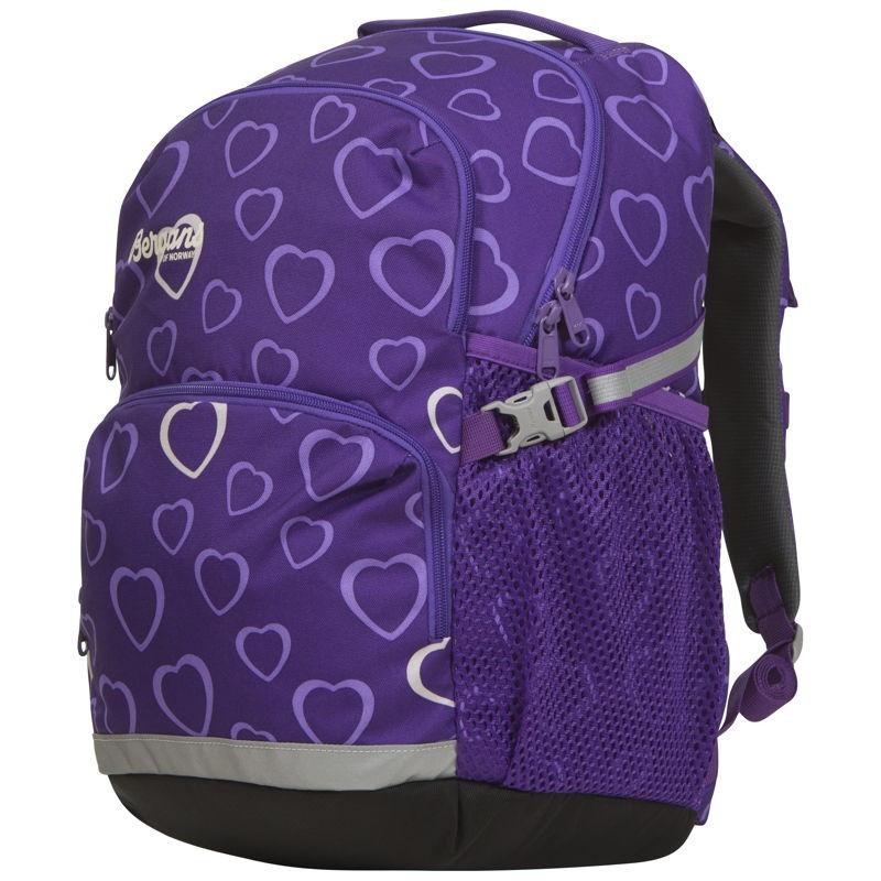 a7686d4d4b7e Низкая цена на Детский школьный рюкзак Bergans 2GO 24 L Amethyst Hearts
