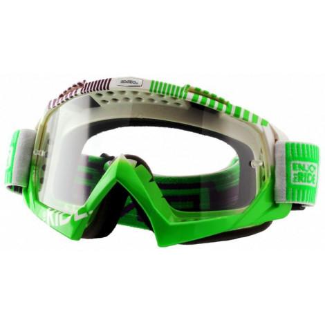 Маска кроссовая O`Neal B-Flex ETR белая/зелёная неон