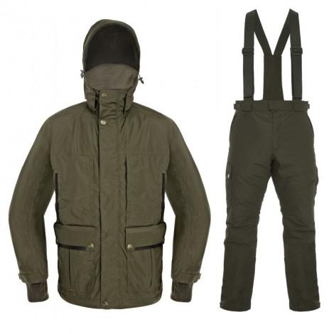 Костюм зимний охотничий GRAFFс курткой-подстежкой пуховиком (братекс 10 000, оливковый, -25) 2019