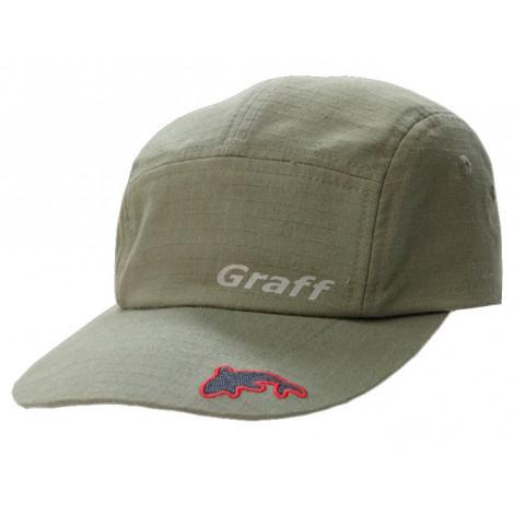 Летняя кепка (оливковая) Graff ткань хлопок 100% 107-OL